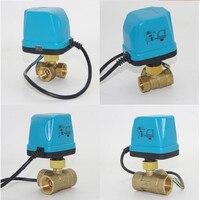 1 PCS DN15 DN20 DN25 3 Way Motorized Ball Valve Motorized Valve Electric Thermal Actuator Manifold