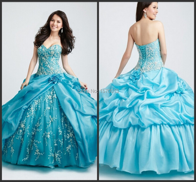 Fashionable Sweetheart Royal Blue Quinceanera Dresses 2015 vestidos  quinceanera debutantes Backless Prom Party Gowns Long fd7cc7f2596f