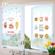 Free Customized Stained Static Cling Window Film Frosted Privacy Glass Sticker Home Decor Digital print BLT1201 Enjoy Life