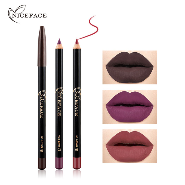 12 Colors  Matte Lip Liner pen use with lipstick Long Lasting Pigments Waterproof no blooming beauty Makeup color optional TSLM1 2