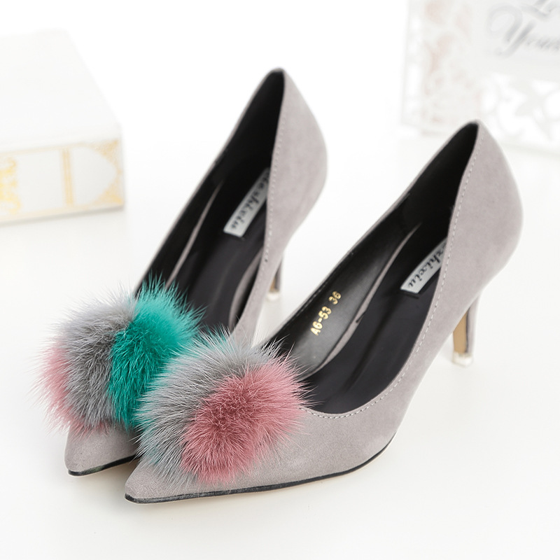 New Brand Sweet Tassel Style font b Women b font Pumps Thin High Heel Pumps Shoes