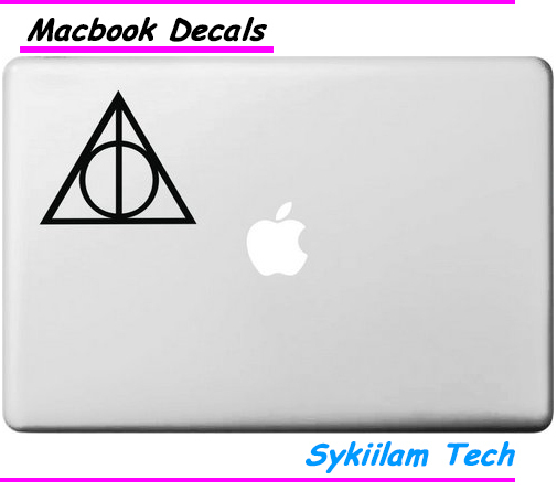 deathly hallows for apple logo vinyl sticker for macbook skin air 11