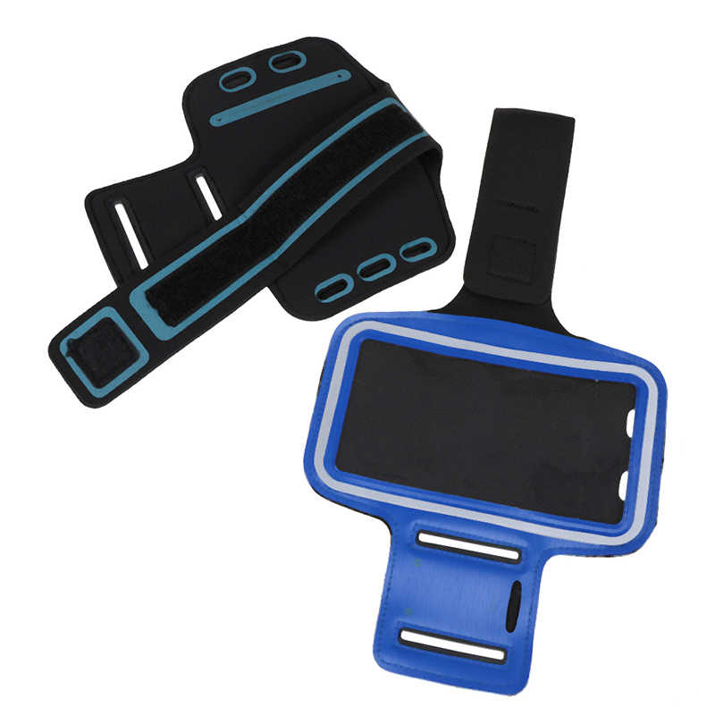 Arm Bag Phone Cases with headphone jack key hole Sport Arm Band Belt Cover Universal Waterproof Running Arm Band Bag 17cm*32cm