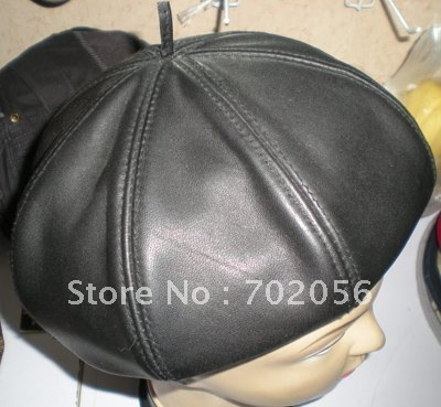 Leather Skullies Cap Hats 5pcs/lot #2278