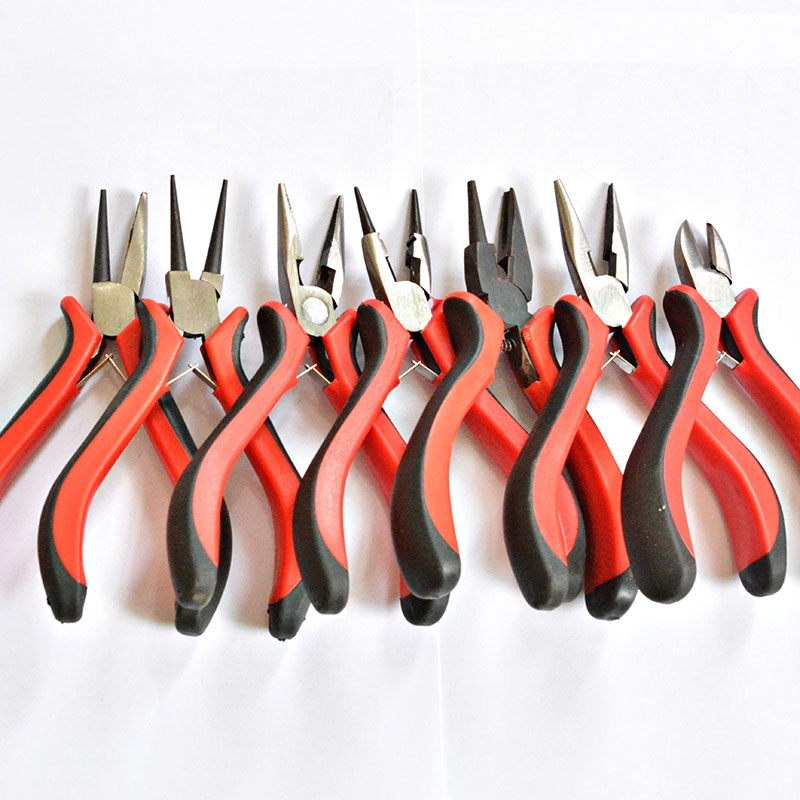 Jewelry Pliers Tool & Equipment Red handle for Crafting Making Tool Beadwork Repair Beading Making Needlework DIY