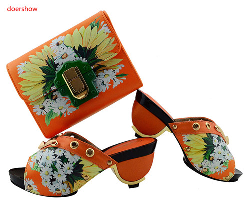 Parti Royal Chaussures Nigérien Chaussure orange Rouge Ensemble Partie Qualité Style Assortir Et bleu Sac À rose Italien Africain Tgf1 pourpre Haute Doershow 1 Noir pu Ciel PA4p7n