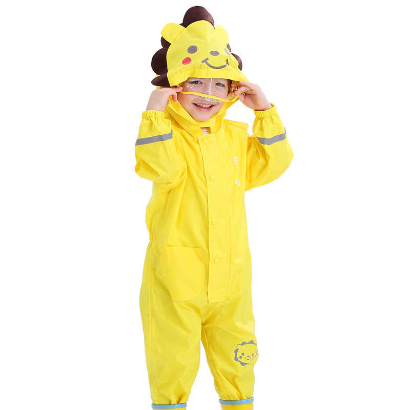 1-6 Years Old Baby Girls Raincoat Outdoor Waterproof Rompers Children  Rainsuit Summer Autumn Boys Play Mud Clothes