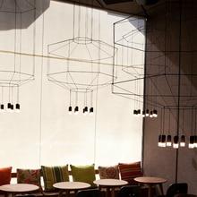 Post-modern Led Geometric Line Pendant Lamp Living Room Restaurant Indoor Decor Hanglamp Kitchen Fixtures Suspension Luminaire
