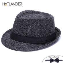 5922606221f HATLANDER Brand Vintage England trilby top hat men autumn winter Jazz cap  outdoor gambler church top hats gentleman fedora hat