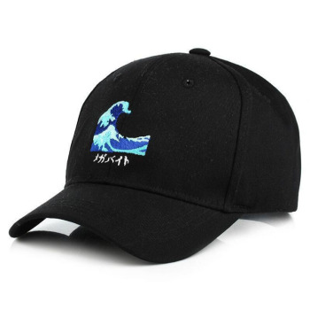 free shipping 1pcs 2015 new cotton letter punkdrunkers brand baseball cap men and women snapback do old motorcycle hat 6 colors BING YUAN HAO XUAN New Sea Wave Cotton Adjustable Embroidery Baseball Cap Baseball Hat Men and Women Dad Hat