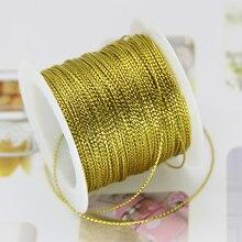 Красная Золотая цепочка для ювелирных изделий, браслет, шпагат, кисточка, рукоделие, подарочная нить для свадьбы, Рождества, 20 м, 1 мм, веревка