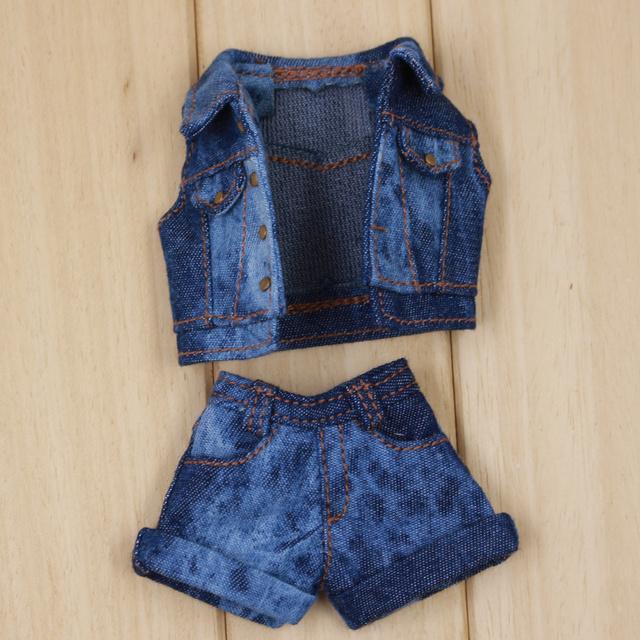 Neo Blythe Doll Denim Jacket T-Shirt Pants & Socks