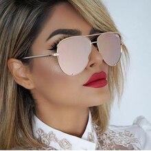 FEISHINI Trendy Silver Mirror Metal Sun Glasses Men Brand Designer Pilot Sunglasses Women Shades Top Fashion Eyewear Gradient стоимость