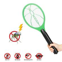 Battery-operated Fly Mosquito Swatter Dry Cell Large Anti Flying Swatter 3 Layers Mesh Electric Swatter for Home(China)