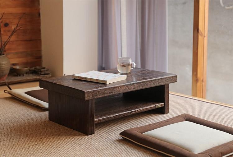 Design de móveis antigos orientais Japonês Piso Mesa De Chá - Mobiliário - Foto 2
