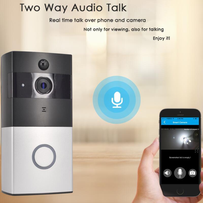 Sonnette vidéo sans fil 1080 P WiFi porte cloche bidirectionnelle parler alarme maison sécurité HD 2.4G téléphone à distance PIR mouvement - 3