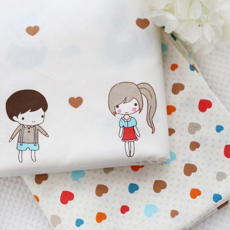 ᗔ100% tela de algodón de la muchacha corazón impreso alta calidad ...