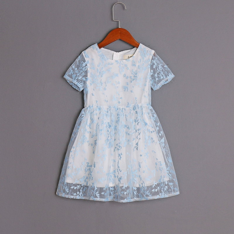 Family matching outfits mother and daughter summer dress children embroidery organza clothing women kids baby girl fashion dress children clothing mother and daughter dress xl xxxl lady women infant kids mom girls dress with dancing rabbit beautiful skirt