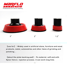 MARFLO Plate Backing Pad Sponge Polishing Car Wash and Care Tools M14 1.2″ 2″ 3″ 3size in one Package