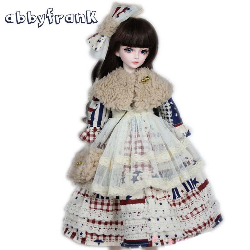 Abbyfrank Doll Accessories For 1/3 60cm SD Large BJD Doll Princesses Dress Set Clothes For 22 Inch BJD Doll Toy Accessories Girl 1 3 scale bjd dress for bjd sd girl dolls suitable for 1 3 bjd a15a1165 doll and other accessories not included