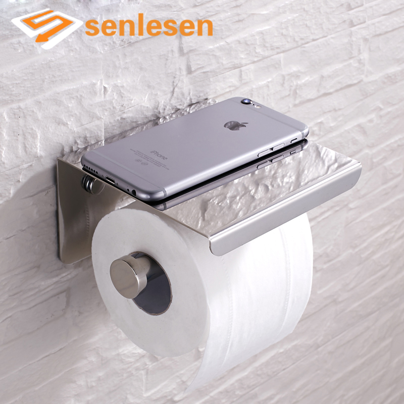 Wholesale And Retail Free Shipping Chrome Finish Bathroom Toilet Paper Holder Wall Mounted Tissue Bar Hanger wholesale and retail wall mounted bathroom toilet paper holder antique black brass roll tissue box free shipping 7816