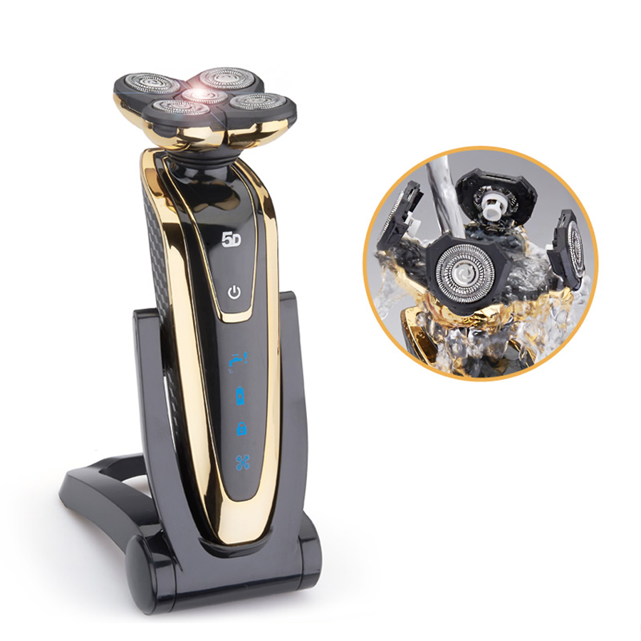 5D Floating Rotary head electric shaver washable Rechargeable Men Beard Trimmer shaving razor  Face Care