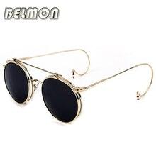 BELMON Steampunk Sunglasses Men Women Goggles Brand Designer Retro Sun Glasses For Ladies Punk Vintage Female Male  RS099