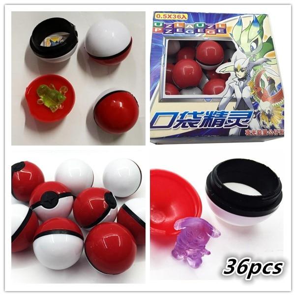 2016 Hot 1 Set Lot 36pcs Poket Balls Pokeball Action Figure Anime