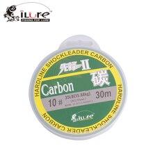 iLure Carbon Line 30m 50m 100m 100% Fluorocarbon Leader Fishing Line Japan Linha De Pesca 4LB-45LB Peche Carpe Vissen Acesorios