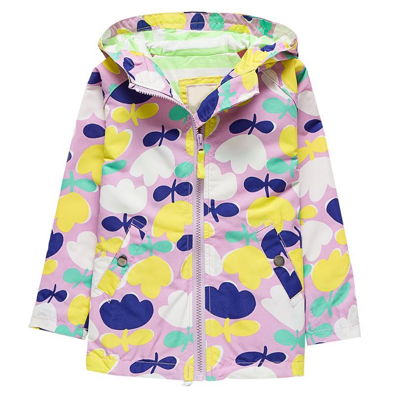 Детская куртка детские Обувь для девочек Обувь для мальчиков с цветочным принтом с длинным рукавом ветрозащитный Водонепроницаемый куртка...