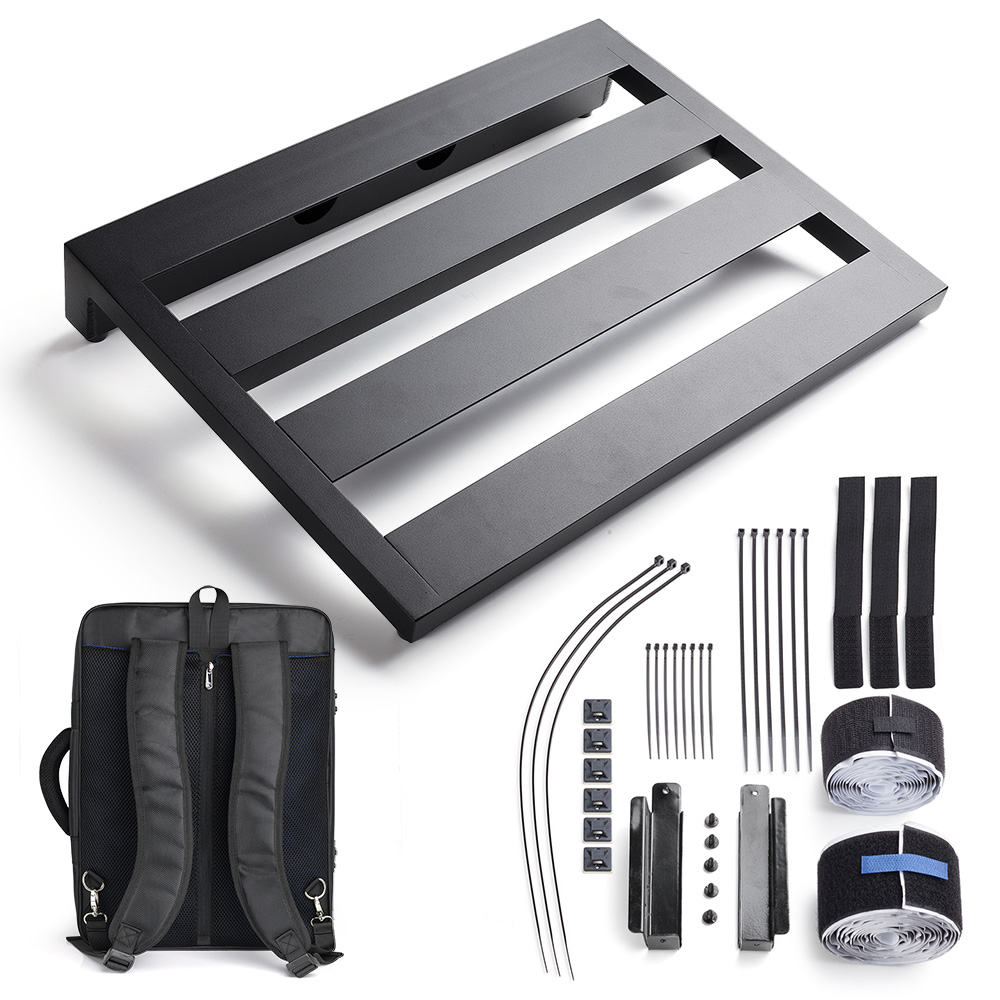 buy guitar pedal board 16 9 x 12 6 x inch with carry bag cable tie hook. Black Bedroom Furniture Sets. Home Design Ideas