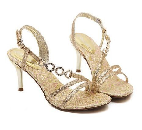 Size 4 8 Golden High Heel Shoes Party font b Women b font Shoes font b