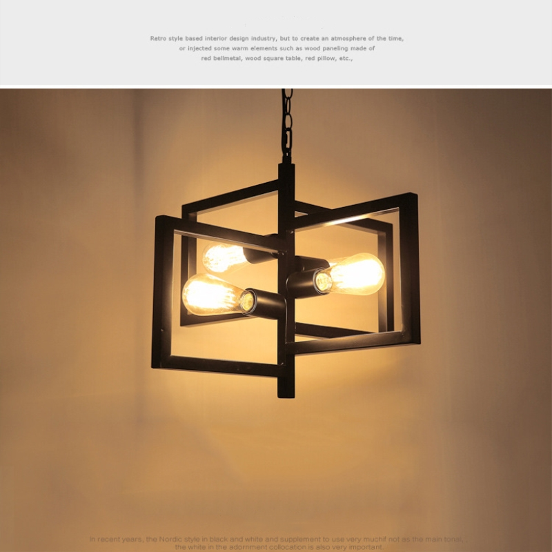 European industrial style iron pendant light e274 edison bulbs for living room bedroom lamps home interior lighting in pendant lights from lights