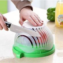 Кухонный салатный инструмент, салатная чаша для резки, волнистый край, салатник, фруктовая овощная смесь, резак, промывочный фильтр