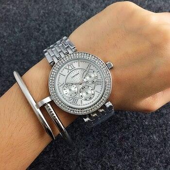 Relogio feminino CONTENA montres de luxe en strass pour femmes montres de mode montre en or montre en acier pour femmes montre saat