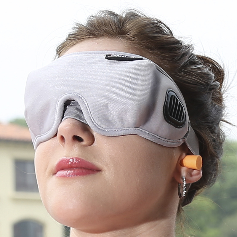 High-Grade Fabric EyeShade Portable Sleeping Eye Mask Eyepatch Padded Shade Cover Eye Mask Night Rest Blindfold Sleep Bandage cute animal eye cover sleeping mask eyepatch bandage blindfold christmas deer winter cartoon nap eye shade plush sleeping mask