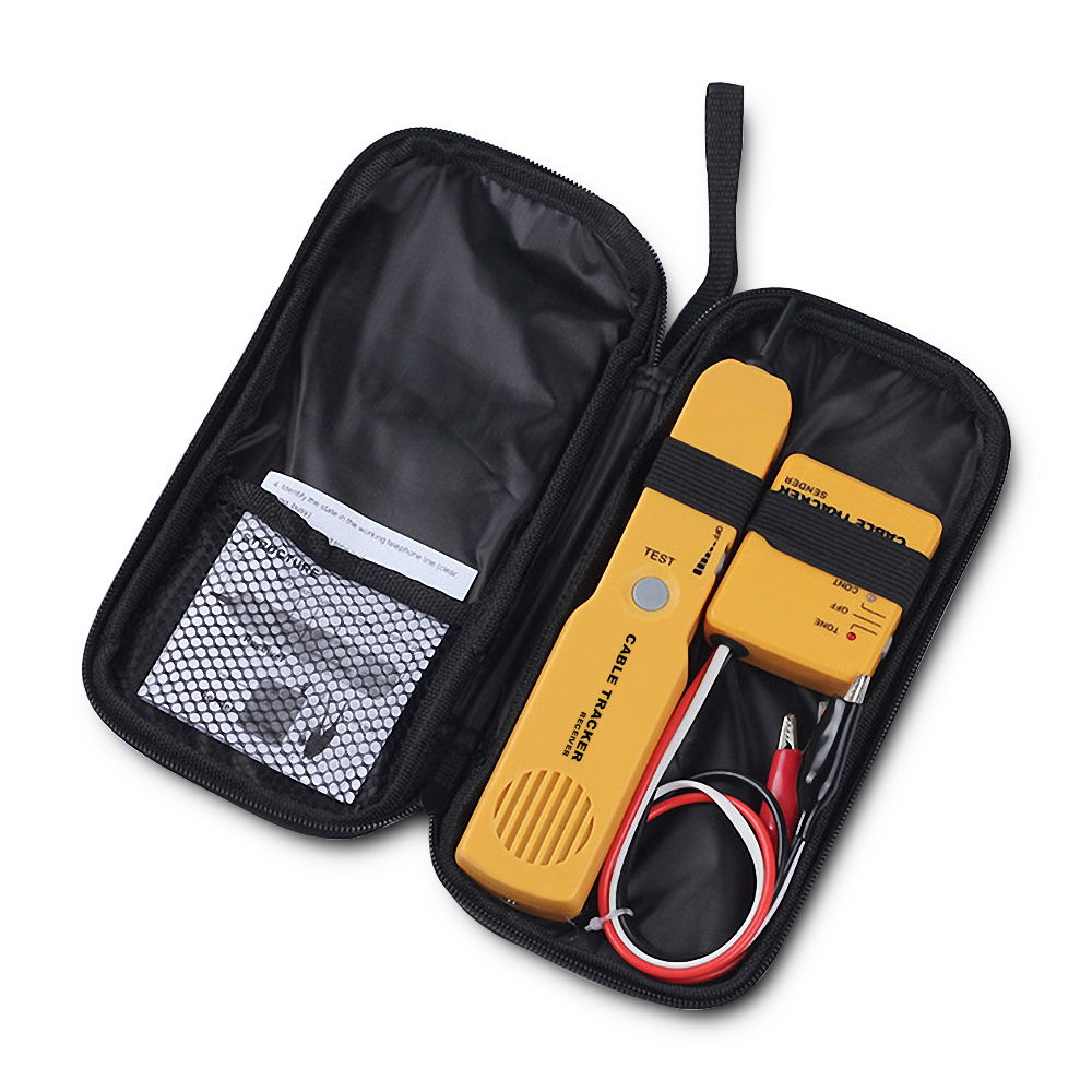 RJ11 Network Tools Kit  Cable Tracker Wire Tester Cable Finder Toner Diagnose Tone Telephone Line Finder Detector