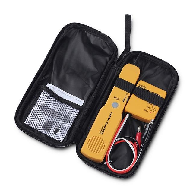 RJ11 네트워크 도구 키트 케이블 추적기 와이어 테스터 케이블 파인더 토너 진단 톤 전화선 파인더 감지기