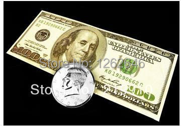 Jumbo Coin To Dollar Bill - Magic Tricks,Coin&Money Magic,Stage,Close Up,Comedy,Magic Toys,Gimmick,Magician Coins