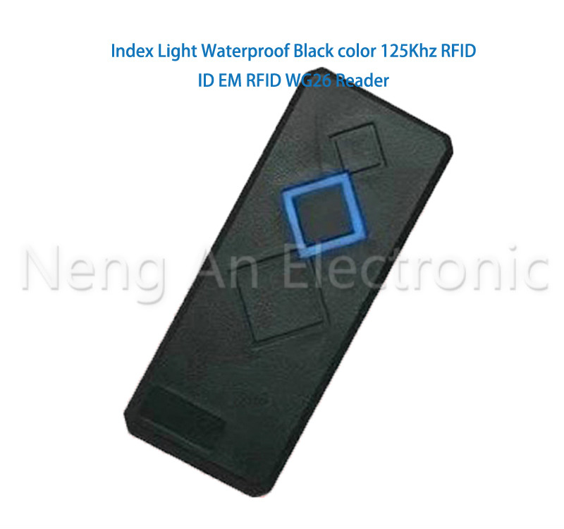 Small Size Blue Indicator Waterproof Black color 125Khz  RFID Reader  WG26/34 Swipe card access control systemSmall Size Blue Indicator Waterproof Black color 125Khz  RFID Reader  WG26/34 Swipe card access control system