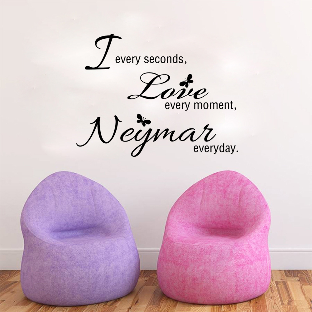 New Arrival Sports football wall sticker Letter Every second love every moment Negmai everyday wall stickers