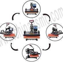 Акция 8 в 1 комбинированный термопресс машина 2D сублимационный принтер печатная машина ткань для футболок кепок кружка пластины чехол