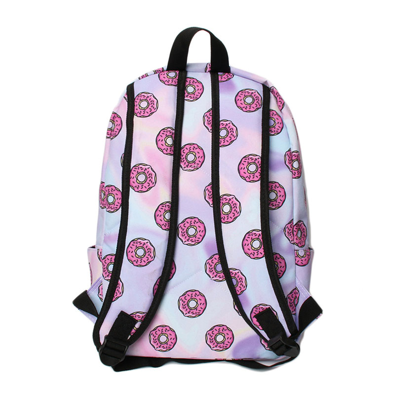 Wulekue Daily Women Backpack For School Teenager Girls Flowers Printed Polyester Travel Backpacks Casual Floral Backpack