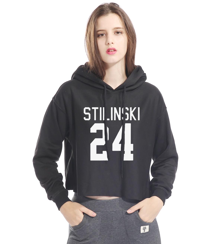 Fashion Streetwear STILINSKI 24 Hip Hop 2017 Short Hoodies Female Brand Wolf Teen Harajuku Kpop Clothes Sweatshirt For Women Hot