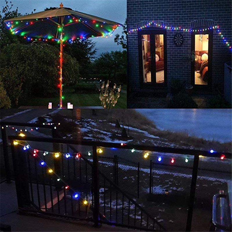 20M 200LEDS EU Plug LED Christmas Tree Garland String Lights Led Xmas Decoration Outdoor Ball Curtain Fairy Holiday Lights in LED String from Lights Lighting