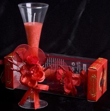 Scented romantic candle cup wax jelly candle decoration 4 colors