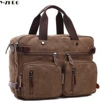 large capacity canvas man bags vintage briefcase handbags versatile men messenger Laptop bag shoulder bag bolsa feminina