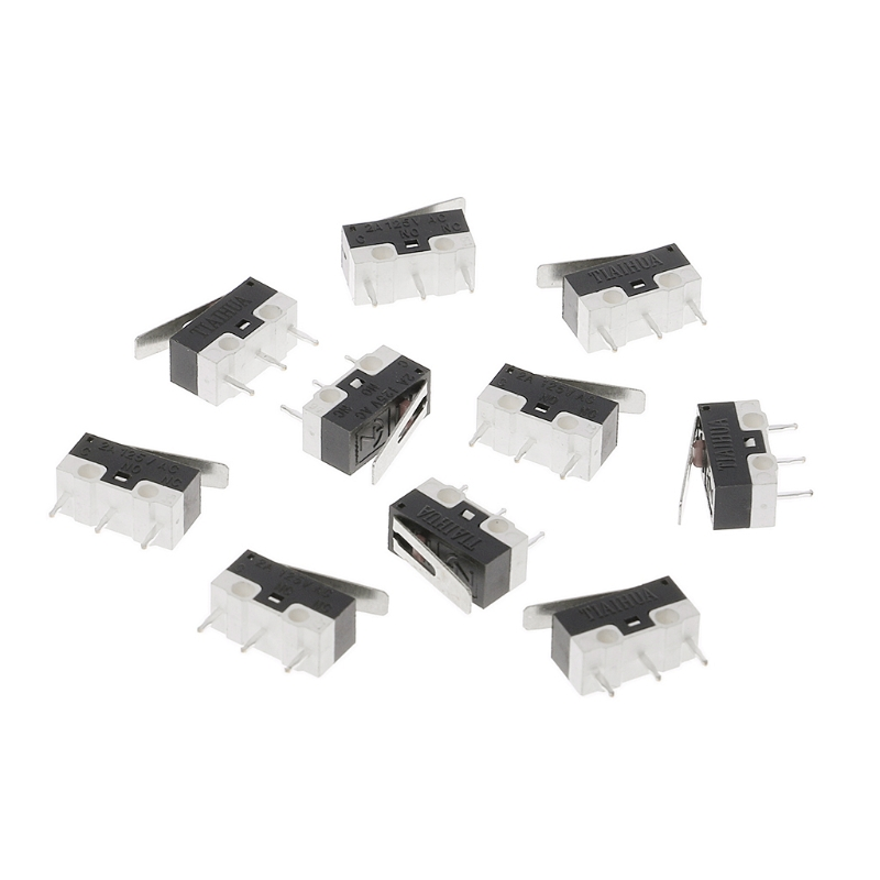 цена на 10Pcs 2A 125V 3PIin Micro Limit Switches Lever Roller Arm Actuator SPDT Switch