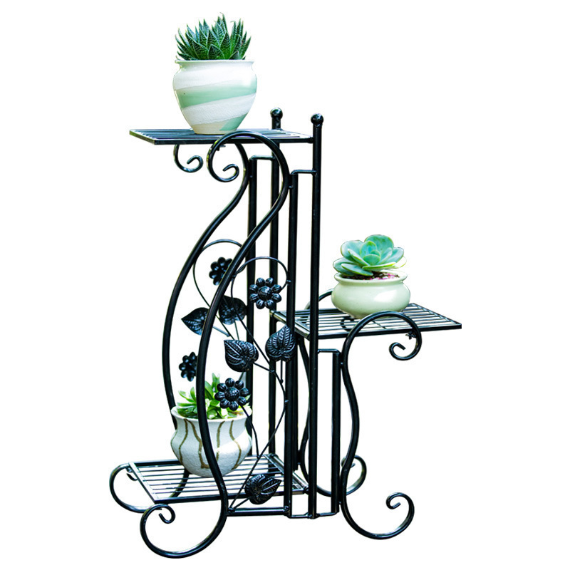 цена Terrasse Decoration Planten Standaard Salincagi Decorative Metal Varanda Balcony Balkon Plant Stand Shelf Flower Iron Rack
