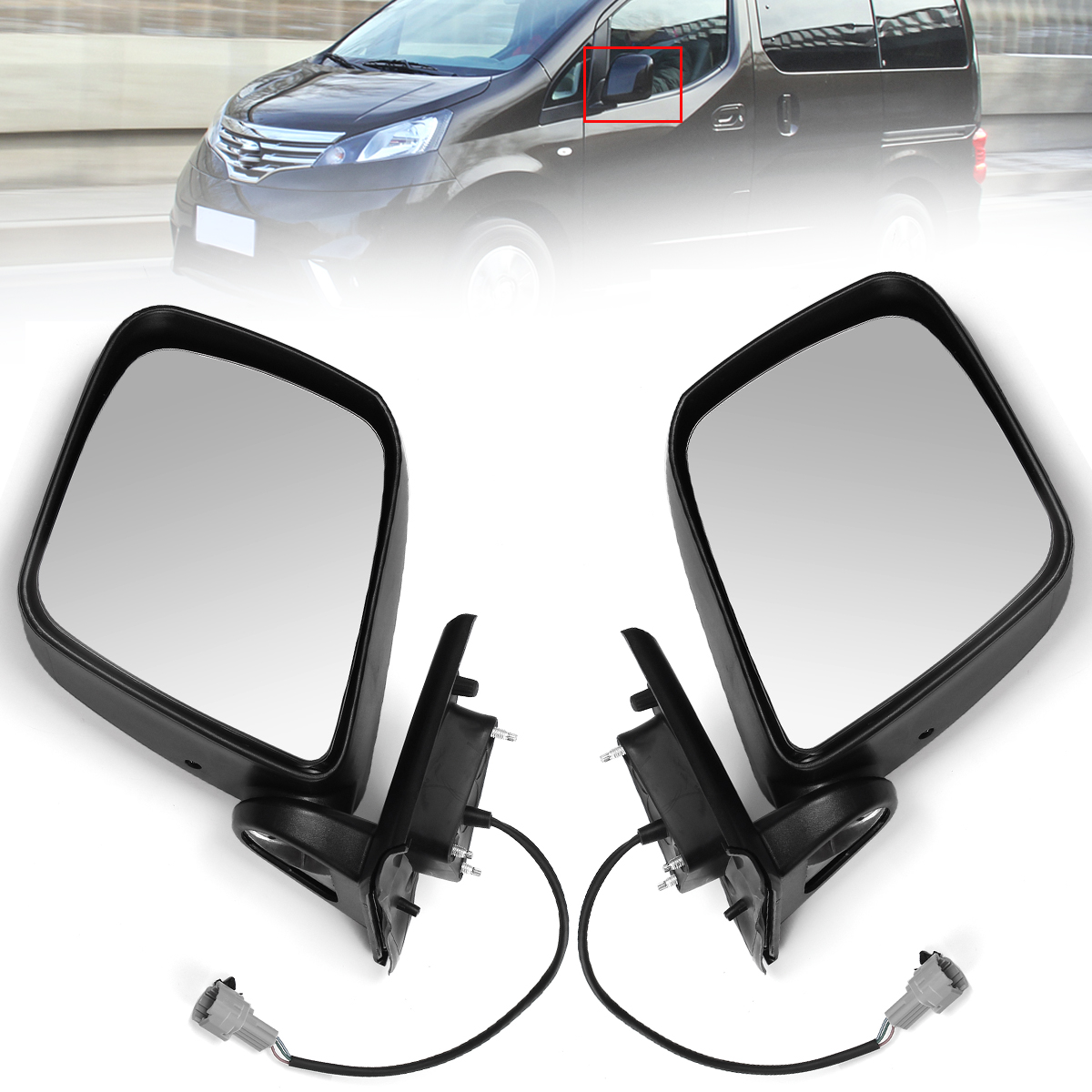 For Fiat Idea 03-13 Right Driver side wing mirror glass with plate